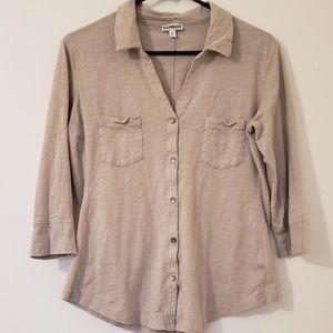 Express 3/4 Length Button Down Shirt